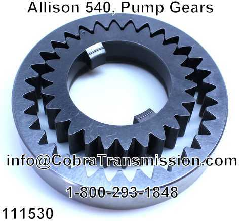 Allison 540, Pump Gears