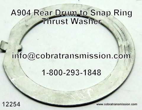 A904 (TF6) Rear Drum to Snap Ring Thrust Washer