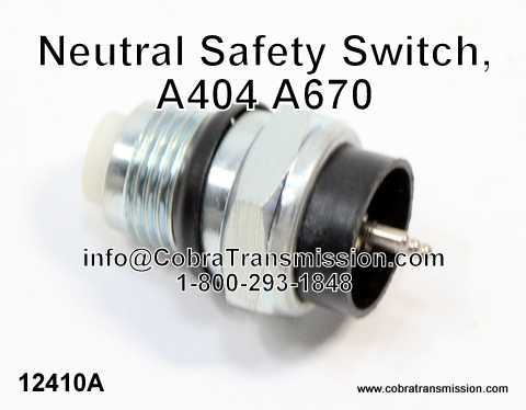 A404 - A670 Interruptor Seguridad Neutral