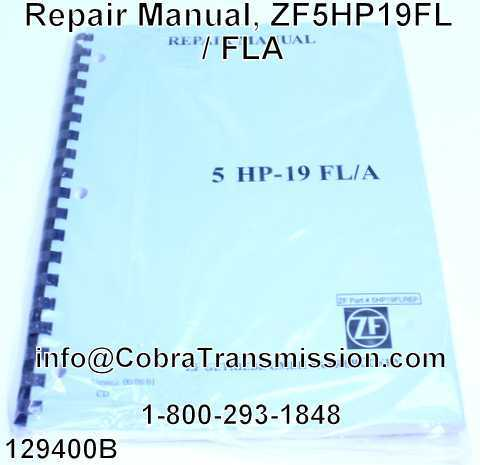Repair Manual, ZF5HP19FL / FLA
