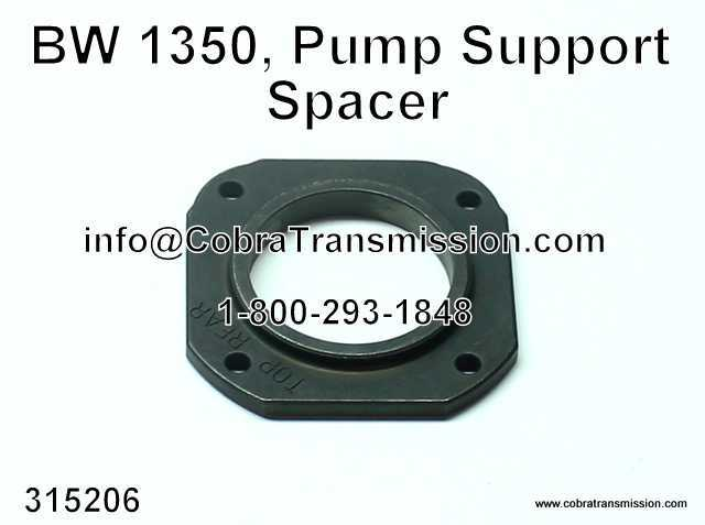 BW 1350, Pump Support Spacer