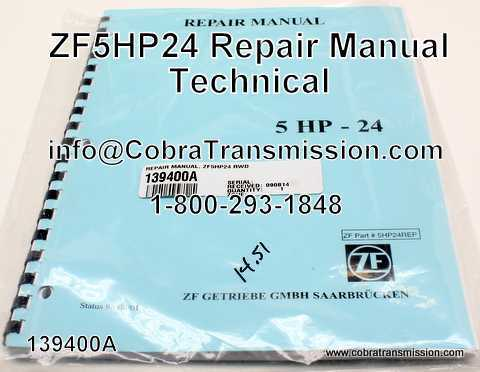 Technical - Repair Manual, ZF5HP24