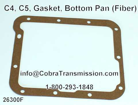 C4, C5, Gasket, Bottom Pan (Fiber)