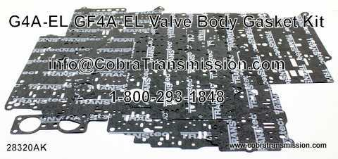 G4AEL Valve Body Gasket Set 86-89