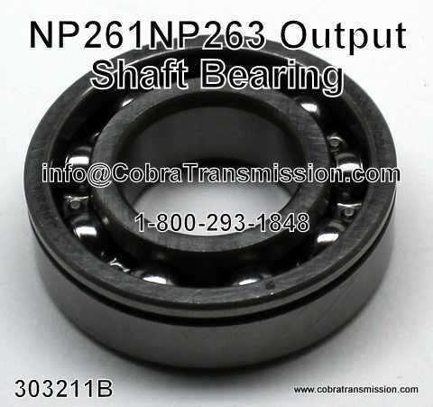 NP 261, NP 263, Output Shaft Bearing