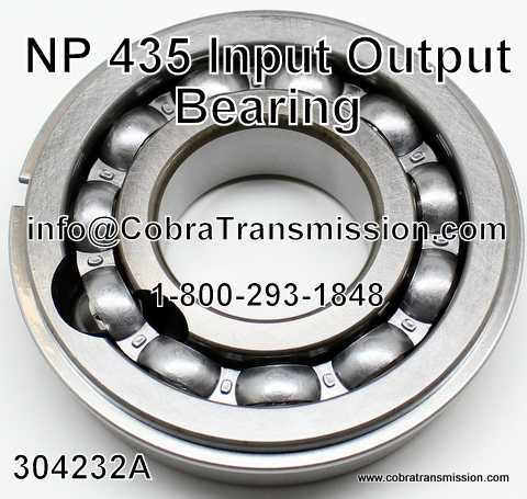 NP 435, Output Bearing