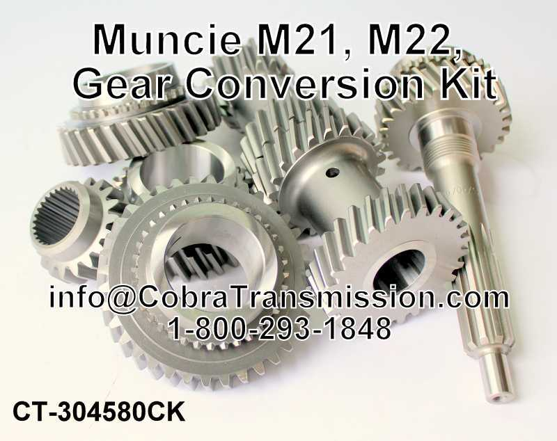 Muncie M21, M22, Gear Conversion Kit