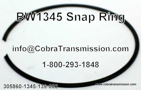 BW1345 Snap Ring 1354-139-002