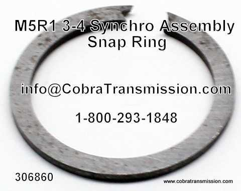 M5R1, 3-4 Synchro Assembly Snap Ring