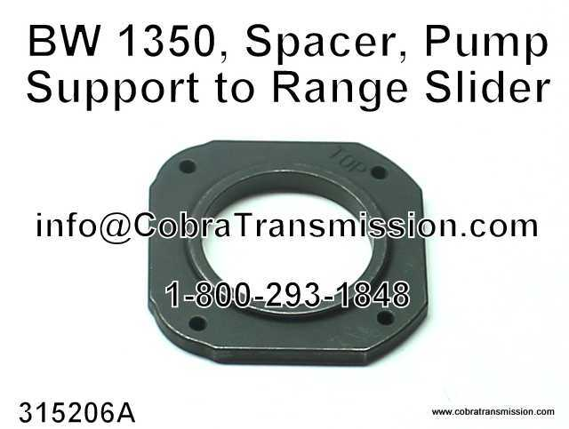 BW 1350, Spacer, Pump Support to Range Slider