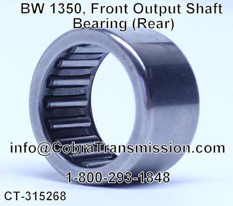 BW 1350, Front Output Shaft Bearing (Rear)