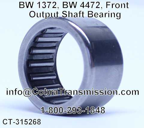 BW 1372, BW 4472, Front Output Shaft Bearing