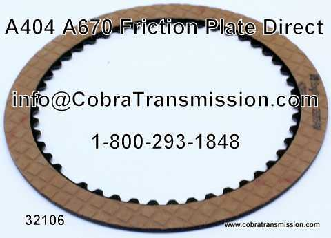 A404 - A670, Friction Plate Direct