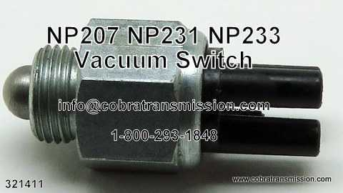 NP 233, Vacuum Switch