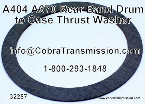 A404 - A670, Rear Band Drum to Case Thrust Washer