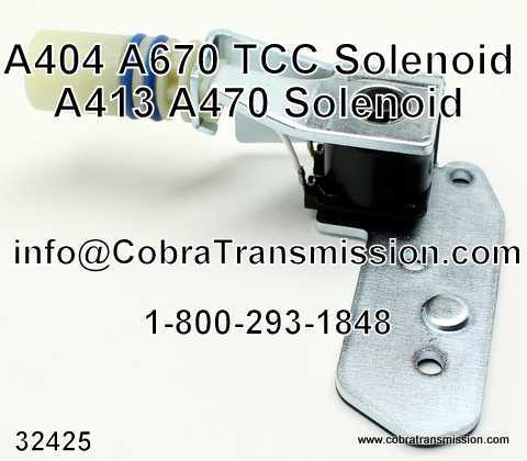A404 - A670 Solenoid, Lock-Up (TCC)