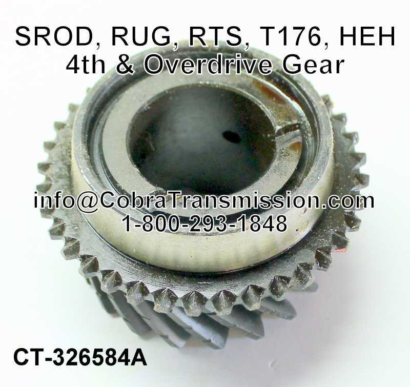 SROD, RUG, RTS, T176, HEH, 4th & Overdrive Gear