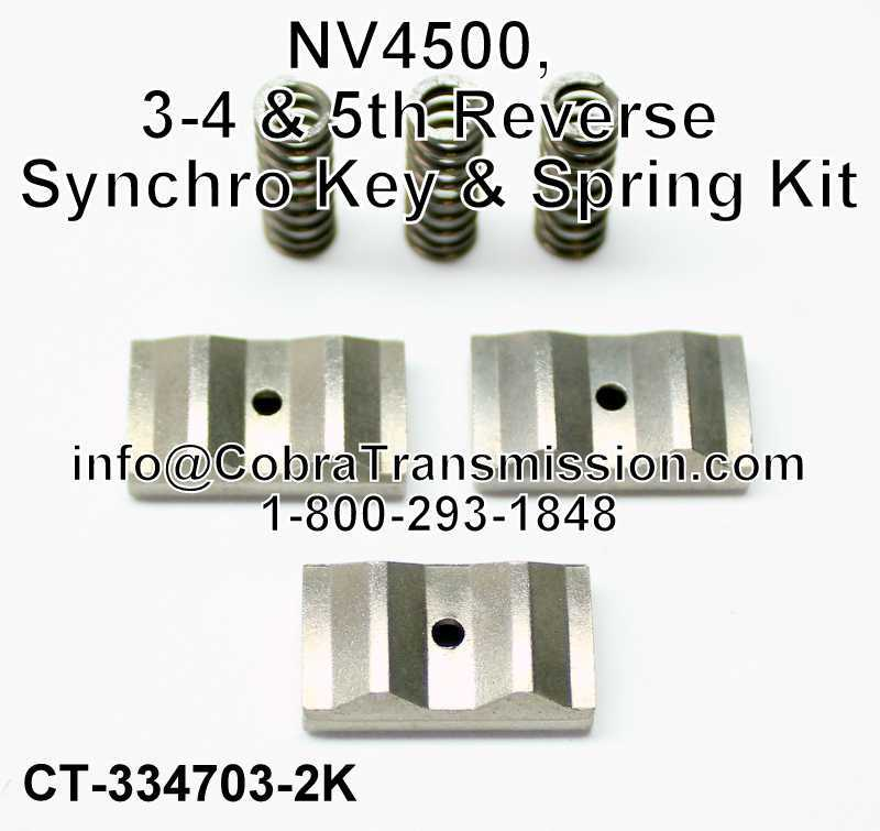 NV4500, 3-4 & 5th Reverse Synchro Key & Spring Kit