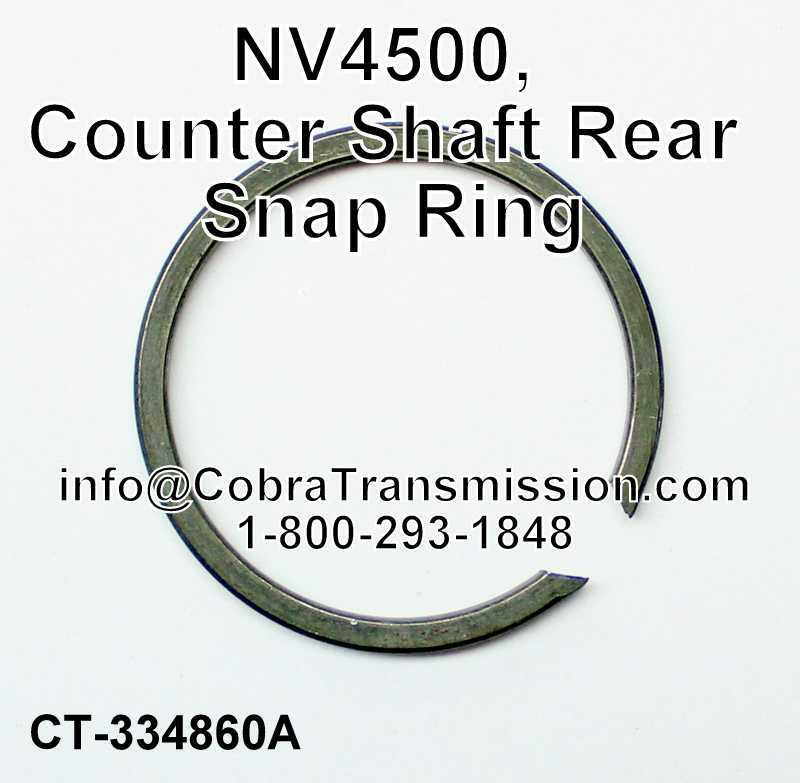 NV4500, Counter Shaft Rear Snap Ring