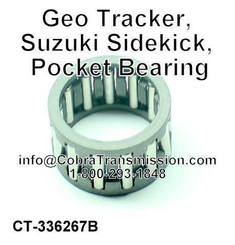 Geo Tracker, Suzuki Sidekick, Pocket Bearing