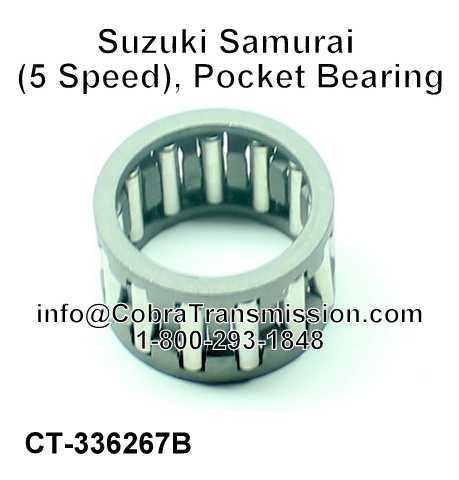 Suzuki Samurai (5 Speed), Pocket Bearing