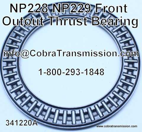 NP 228, NP 229, Front Output Thrust Bearing