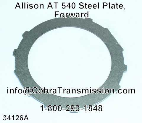 Allison AT 540 Steel Plate, Forward