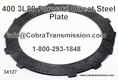 400, 3L80 Forward and Direct Steel Plate