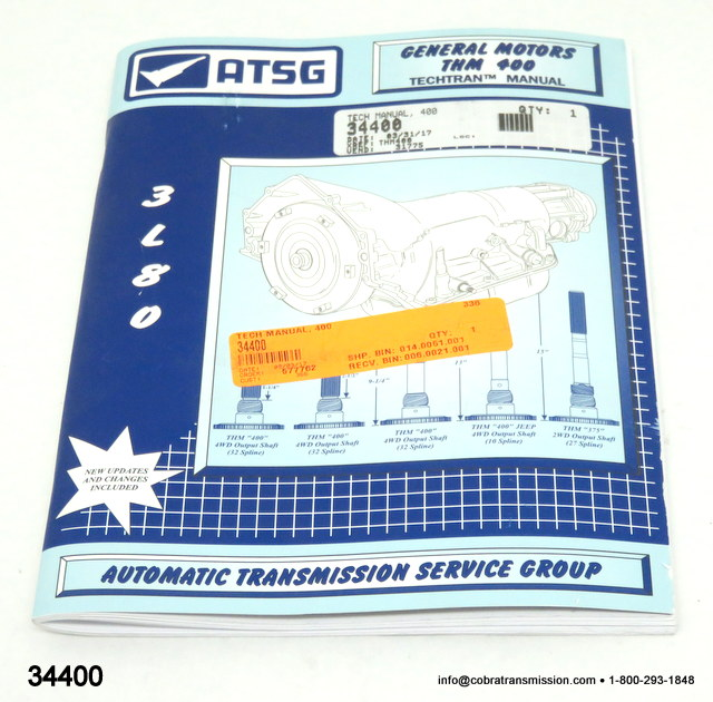 Technical - Repair Manual, 3L80, 400