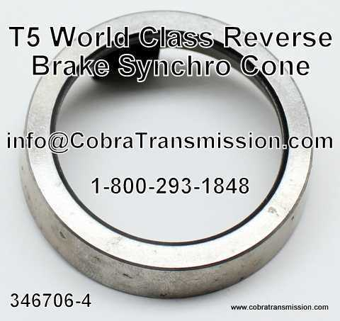 T5 World Class Cono de Synchro Cone, Freno Reverso