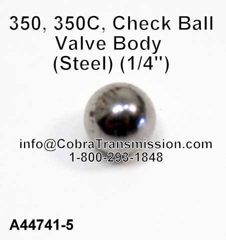 "350, 350C, Check Ball, Valve Body (Steel) (1/4"")"