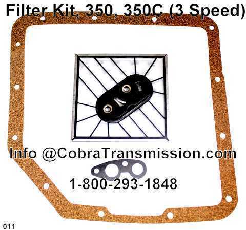 Filter Kit, 350, 350C (3 Speed)