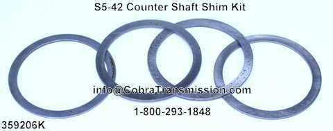 S5-42 Counter Shaft Shim Kit