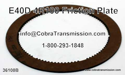 E40D, 4R100, Friction Plate
