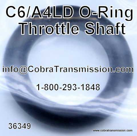 A4LD O-Ring, Throttle Shaft (No Lobes)