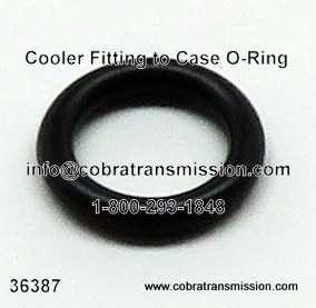 O-Ring, Cooler Fitting to Case
