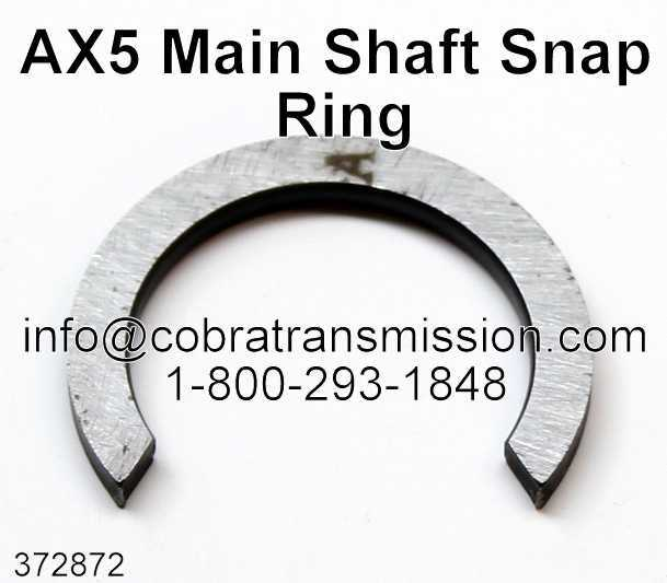AX5 Main Shaft Snap Ring