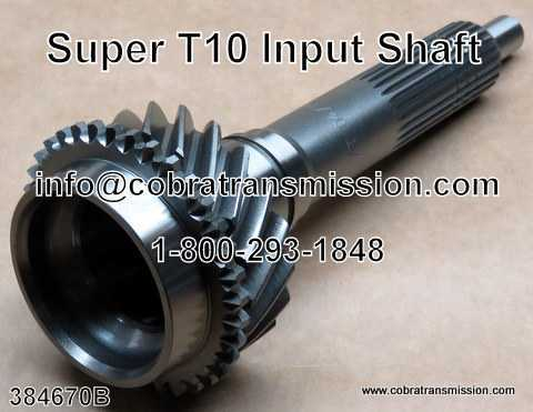 T10, Super T10, Input Shaft