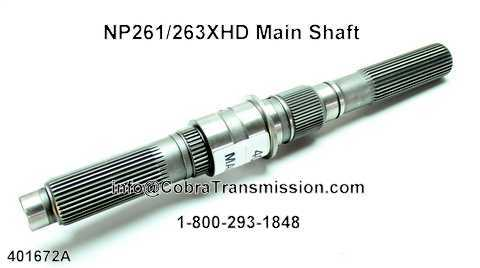 NP261/263XHD Main Shaft