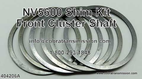 NV5600 Shim Kit - Front Cluster Shaft