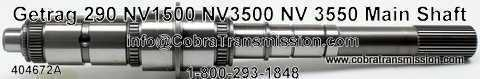 Getrag 290, NV1500, NV3500, NV3550, Main Shaft