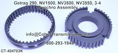 Getrag 290, NV1500, NV3500, NV3550, 3-4 Synchro Assembly