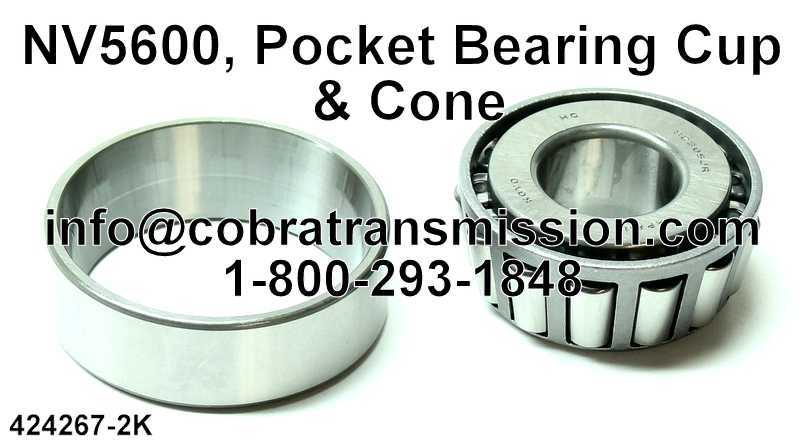 NV5600, Pocket Bearing Cup & Cone