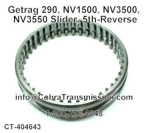 Getrag 290, NV1500, NV3500, NV3550, Slider, 5th-Reverse
