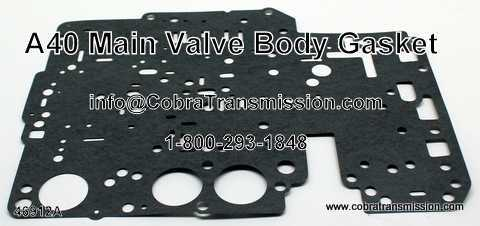 A40 Series Gasket, Main Valve Body