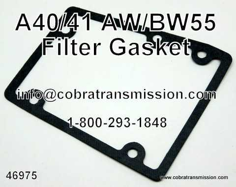 A40/41/AW/BW55 Gasket, Filter