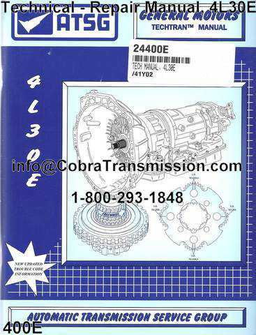Technical - Repair Manual, 4L30E