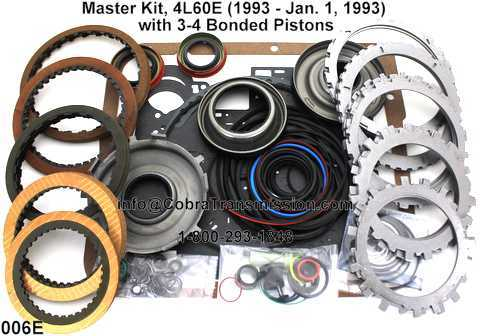Master Kit, 4L60E (1993 - Jan. 1, 1993) with 3-4 Bonded Pistons