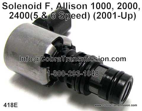 Solenoid F, Allison 1000, 2000, 2400 (5 & 6 Speed)