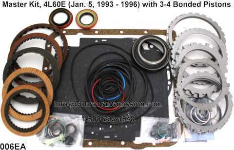 Master Kit, 4L60E (Jan. 5, 1993 - 1996) with 3-4 Bonded Pistons
